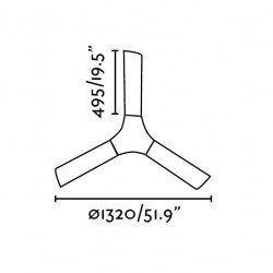 Ventilador de techo 132 cm. moderno, palas de abs, acabado blanco LAKKI FARO 33317