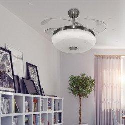 Ventilador de techo, Shadow Diamond Sound, 107cm, DC, con palas retráctiles, altavoz BLUETOOTH, con luz, Lba Home