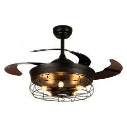 Brown Shadow de LBA HOME, un punto brillante original y retro con aspas retráctiles, un ventilador muy eficiente
