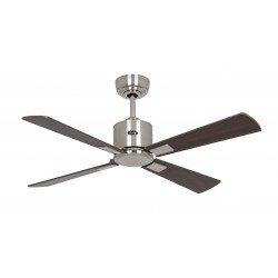 Ventilador de techo, DC, 103 Cm. Moderno Cromo cepillado, aspas gris plata / wengué control remoto CASAFAN Eco II Neo BN