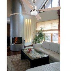 Ventilador de techo, moderno, motor DC, 132 cm. con lámpara, control remoto IR, FARO PALK 33470