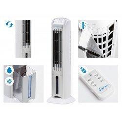 Climatizador evaporativo/ ionizador, Rafy 79, fácil de usar, 70 W, 3 velocidades, Purline.