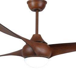 Ventilador de techo design 127cm Kala con lampara led y mando reversible color madera