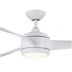 Ventilador de techo DC design 142 cm punto de luz de acero cepillado control remoto reversible led, Koala LBA HOME