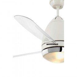 Ventilador de techo 132 cm. con lámpara integrada - FARO FARETTO, control remoto IR 33389