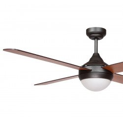 Ventilador de techo, Chocolate, 122cm, palas de caoba/wenge, con luz, moderno, Lba Home.