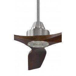 Ventilador de techo, Softy 70, 178cm, cromo/nuez oscuro , DC, hiper silencioso, Klassfan.