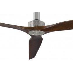 Ventilador de techo, Softy 70 BS-SW, 178cm, cromo/nuez oscuro, DC, hiper silencioso, + varilla de 60cm,Klassfan.